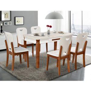 Bộ bàn ghế ăn gia đình gỗ tự nhiên BA128