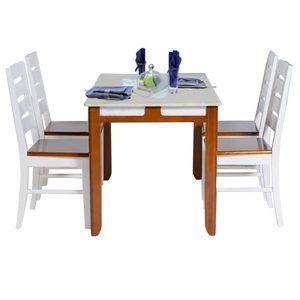 Bộ bàn ghế ăn gỗ tự nhiên HGB64B